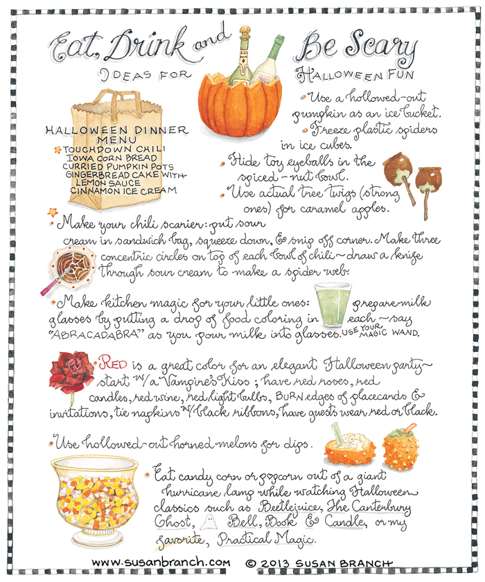 Susan Branch Halloween page