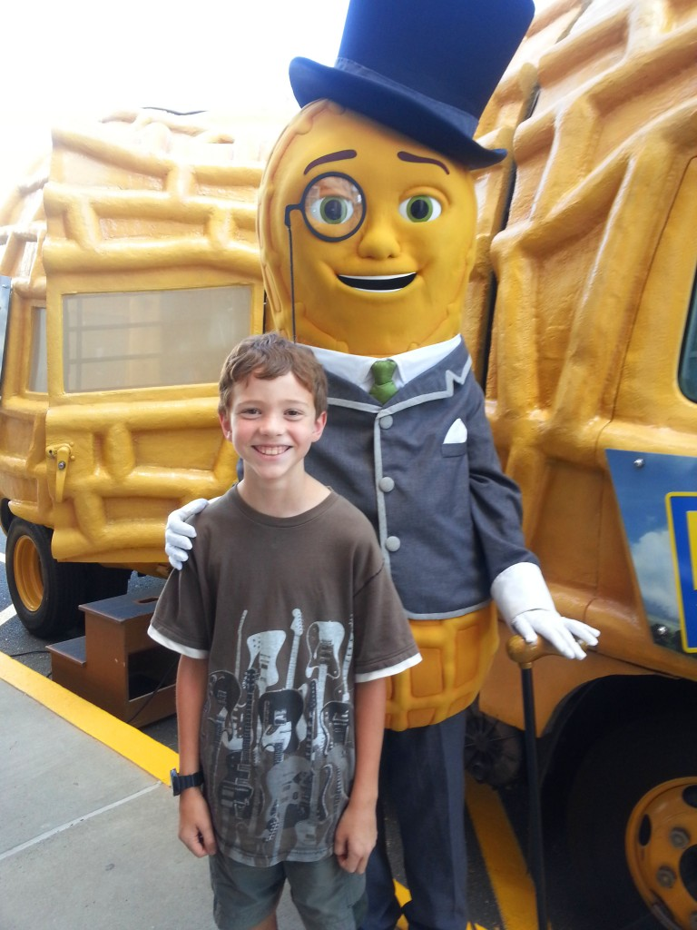 Evan & Mr. Peanut
